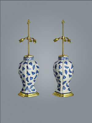 Staffordshire vase lamps